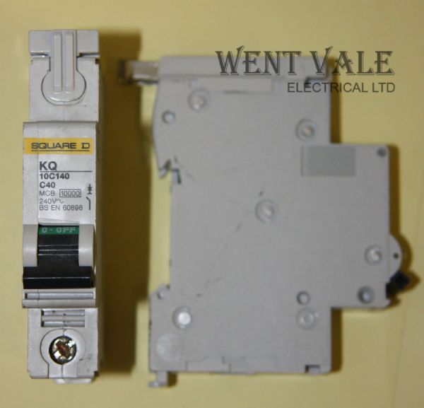 Square D Loadcentre - KQ10C140 - 40a Type C Single Pole MCB Used